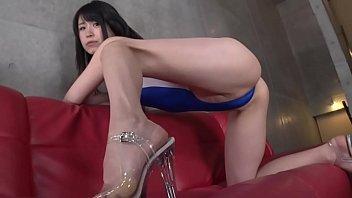 Ayaka Hirose High-leg leotard blue legs-fetish image video no sound solo