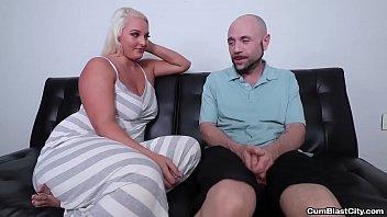 cumblast-Busty blonde gets a facial 6 min