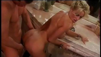 After taking bat Dasha gets husband's cock deeply inside her wide cunt 12 min