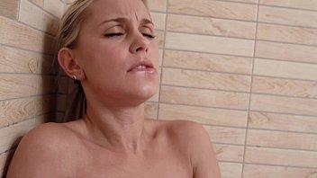 Nude shower - Petite blonde lolla having fun in her shower - brand new toy - wet masturbation
