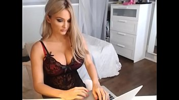 Sexy Busty Blonde Teases in Lingerie on Cam - CamGirlsUntamed.com
