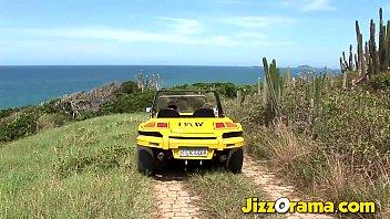 JizzOrama - Anetta Keys & Tarra White Lesbian Beach Fuck