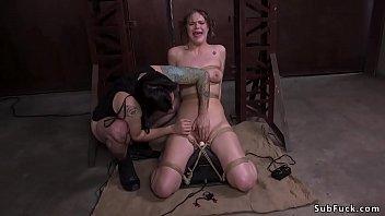Pawg brunette anal fucked in bondage