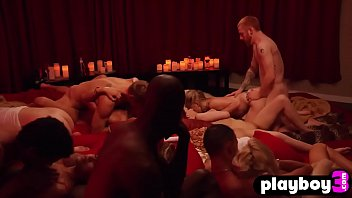 Naughty couple experienced a hot hardcore group sex