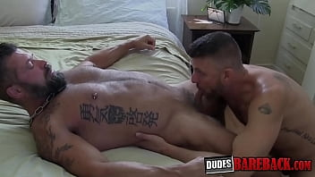 Inked experienced hunks are ready for wild barebacking