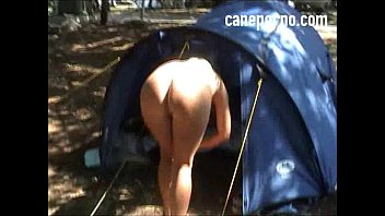 Amateur camping footjob - camping amateur footjob