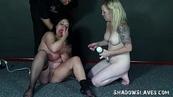 Lesbian slaves bizarre insertions and hardcore domination sex of amateur bbw sub thumbnail