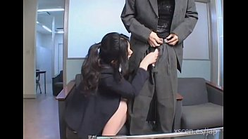 Chinami Sakai japanese secretary gives a hot blowjob