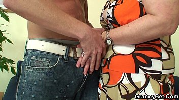 60 mature over Young guy screwed old granny on the couch