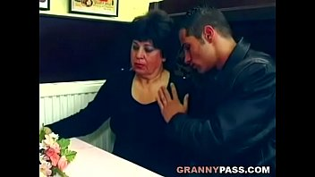 Beautiful granny gets fucked on the table Preview