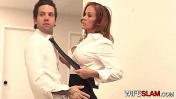 Hot Slutwife Sabrina Cyns Fucks Her Co-worker