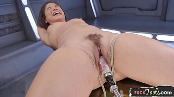 Bound glam beau ty drilled by sex machine ex machine