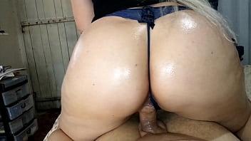 Hot aunty sitting on my dick