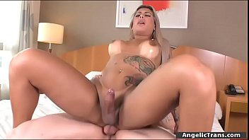 Busty shemale Polly A fucked in her butt