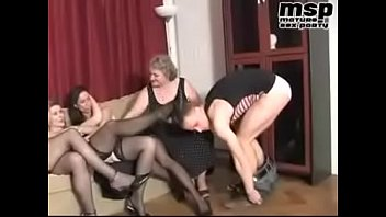 Hot mature group sex with boy