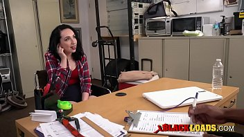 Rebel teen is getting her ass fucked hard by her black boss in doggystyle.