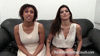 Awesome Interracial Big Tit Threeway Casting
