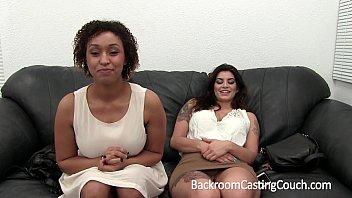 Awesome Interracial Big Tit Threeway Casting