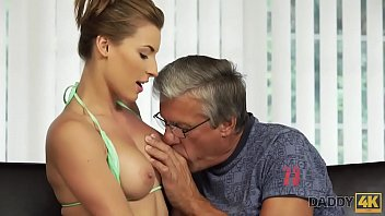 DADDY4K. Boy is surprised to see his girlfriend and father having dirty sex