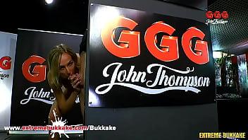 Jenny rides his great big cock GermanGooGirls gangbang