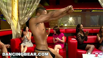 DANCING BEAR - Male Strippers Slinging Big Dick At This Wild CFNM Party