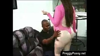 Pale pregnant white hoe with braids and heels banged by big black cock
