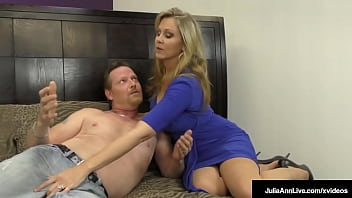 Busty Dominating Milf Ms. Julia Ann Tells Her Hard Hubby He Can't Cum!