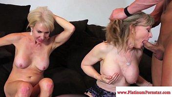 Erica Lauren and Nina Hartley share cock 10 min