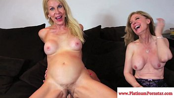 Erica Lauren and Nina Hartley share cock thumbnail