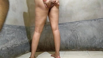 Ever best xxx doggystyle in bathroom with clear hindi voice
