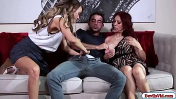 Wife watching her guy fuck other woman
