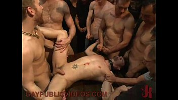 """Crowd holds gay down as he endures the flogger <span class=""""duration"""">7 min</span>"""
