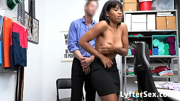 Busty Black Teen Fucked By Mall Officer For Her Thieving Habit