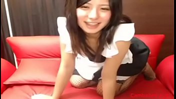 Japanese cutie strips and toys her shaved pussy