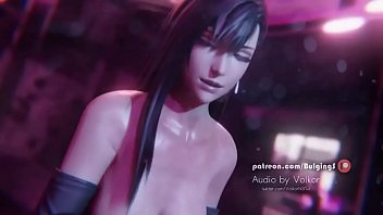 Naked tifa - Tifa double handjob by bulgingsenpai