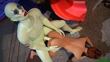 Joker the Clown Fucker. 3D Sex Horror