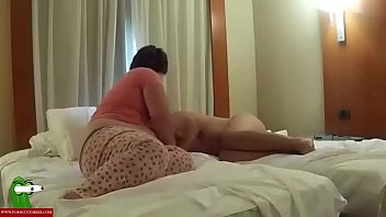 Ass play couple The fat woman plays to be domina. san172