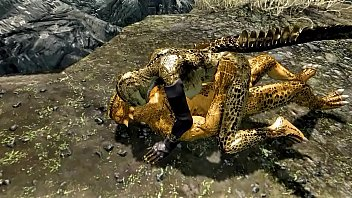 Private sex of two argonians
