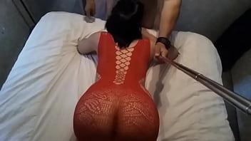 Me la cojo en lenceria roja cuando no esta su marido