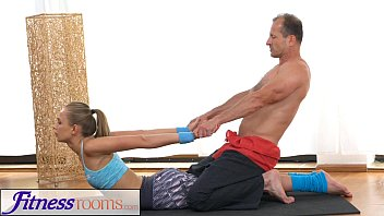 Stretch pants ass photos - Fitnessrooms ivana sugar has a full body and pussy stretch with fitness trainer