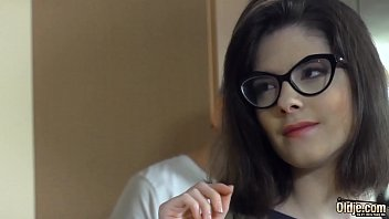 Young schoolgirl beauty with glasses fucked hardcore by grandpa 10 min
