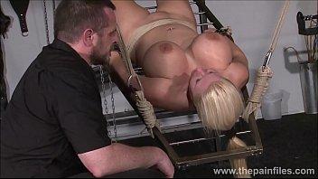 Rough water bondage and interracial slave sex of busty masochist Melanie Moon