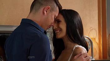 Dane Jones Small tits Hungarian euro babe Nikki Fox romantic sex with talented lover 14 min