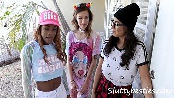 Teen Arcade Girls Gangbang One Joystick 8 min