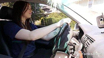 Hot Matilda Masturbating While Driving