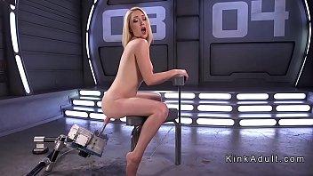 Hirsute fetish - Hirsute blonde bangs speedy machine