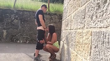 Arab sucking in the street and getting fucked at home 2 min