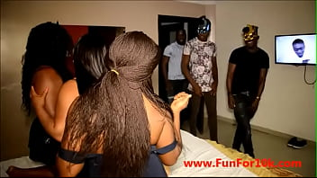 3 Nigerian sexy african boys catches 3 bad bitches as they were having a lesbian situation and pound the lesbian out of their pussies (full video on red)