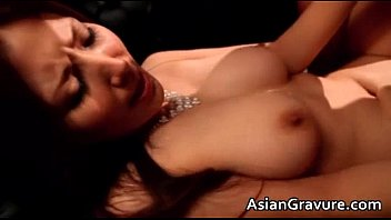 Awesome asian brunette hoe is sucking
