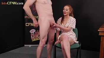 Asslicked CFNM Babe Dominates Submissive Dick